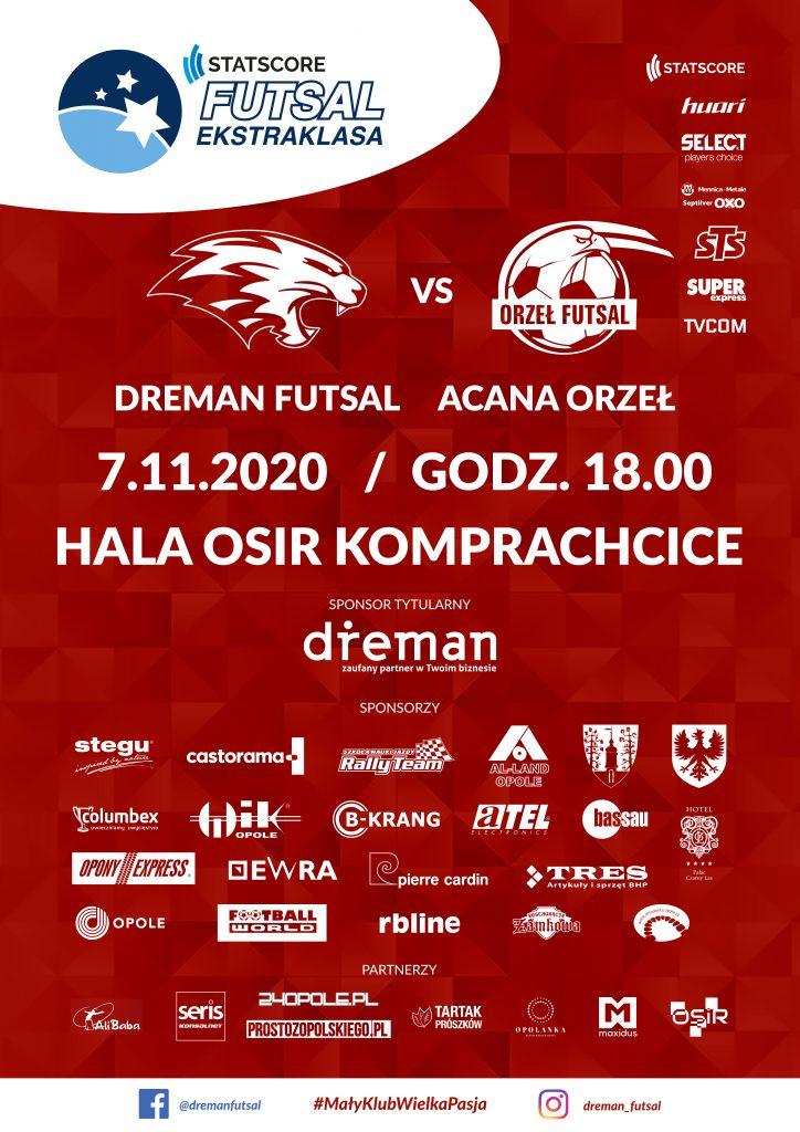 mecz Dreman Futsal Akana Orzeł